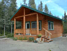 Alaska Vacation Rental Log Cabin  (click for a detail view)
